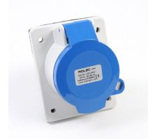 CEE inbouwcontactdoos schuin vergrendelbaar 16amp 230V IP44