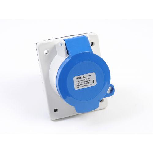 CEE inbouwcontactdoos schuin vergrendelbaar 32amp 230V IP44