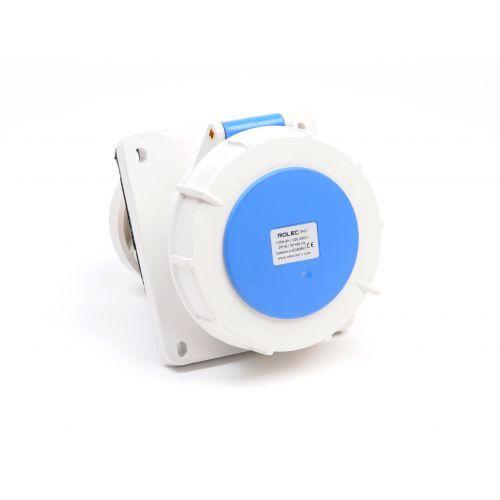 CEE inbouwcontactdoos schuin 125amp 230V IP67