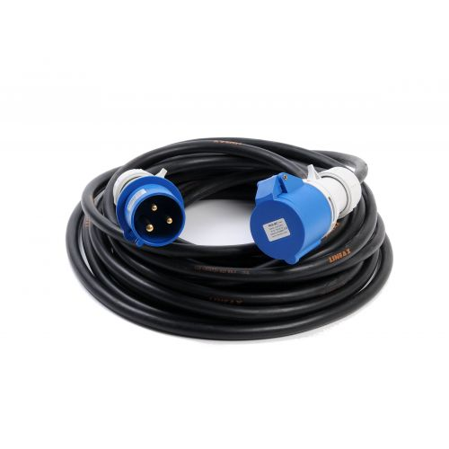 Verlengkabel neopreen 20 meter-2,5mm CEE 16amp 230V IP67