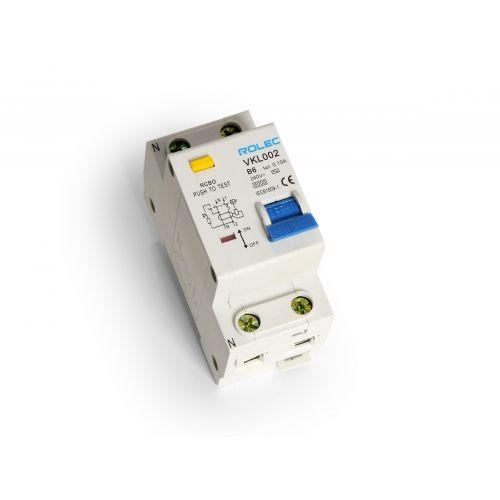 Aardlekautomaat 1P+N B6A / 100mA 6KA