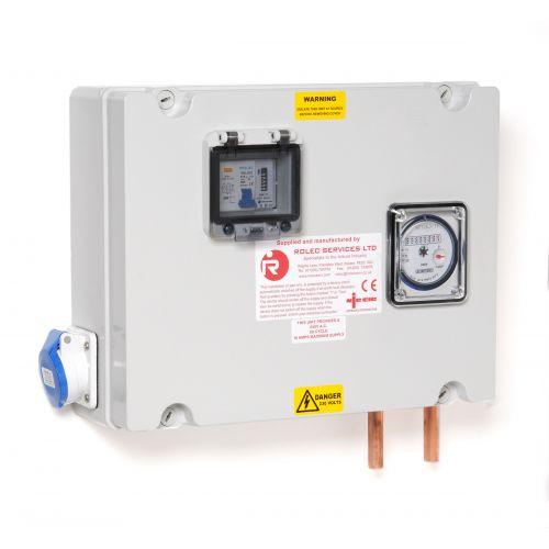 Aansluitkast 16A 1 WCD met kWh, TV en water meter