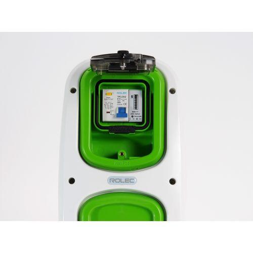 Wallpod inzetstuk aardlekautomaat 2pol B16 / 30mA met KWh me