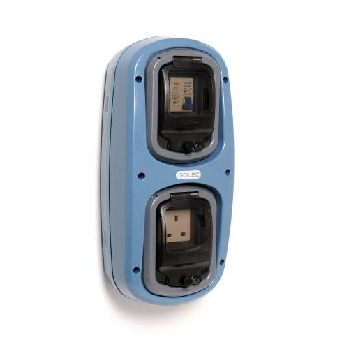 Wandmodel 2: -aardlekautomaat B10/30mA - 13A (UK)