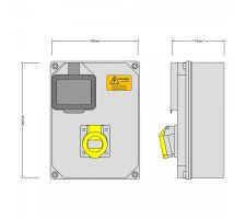 Stroomkast RE113F 1 WCD 16amp 110V