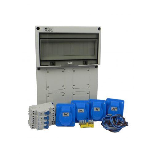 Aansluitkast Front 4 wcd CEE 16A Kit