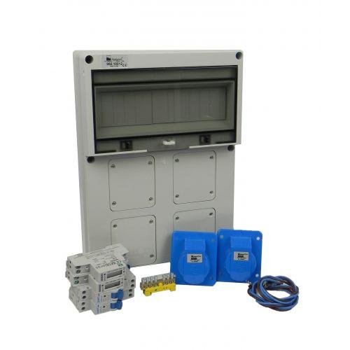 Aansluitkast Front 2 wcd CEE 16A/ 2x kWh meter Kit