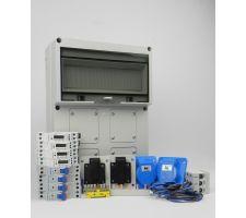 Aansluitkast Front 3 wcd CEE 16A/ 3x kWh meter kit