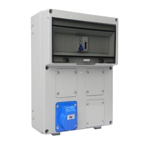 Aansluitkast Front 1 wcd CEE 16A/ 1x kWh meter gemonteerd