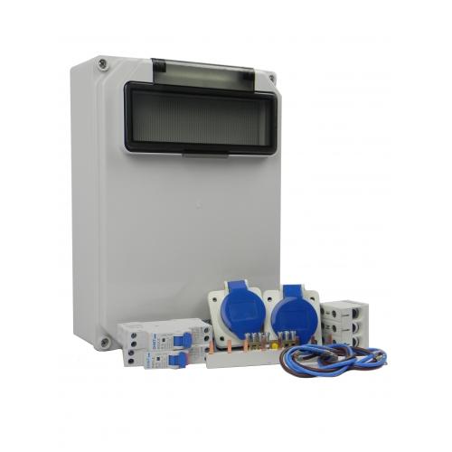 Aansluitkast Zijkant 2 wcd CEE 16A Kit IP44