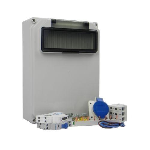 Aansluitkast Zijkant 1 wcd CEE  16A/ 1x kWh meter Kit IP44