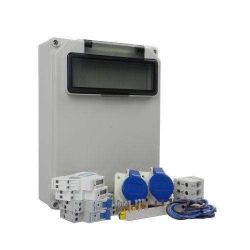 Aansluitkast Zijkant 2 wcd CEE 16A/ 2x kWh meter Kit IP44