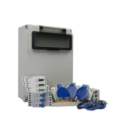 Aansluitkast Zijkant 3 wcd CEE 16A/ 3x kWh meter Kit