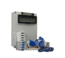 Aansluitkast Zijkant 4 wcd CEE 16A/ 4x kWh meter Kit