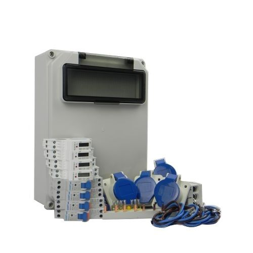 Aansluitkast Zijkant 4 wcd CEE 16A/ 4x kWh meter Kit IP44
