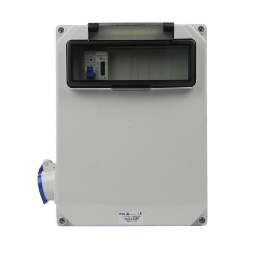 Aansluitkast Zijkant 1 wcd CEE 16A/ 1x kWh meter gemonteerd