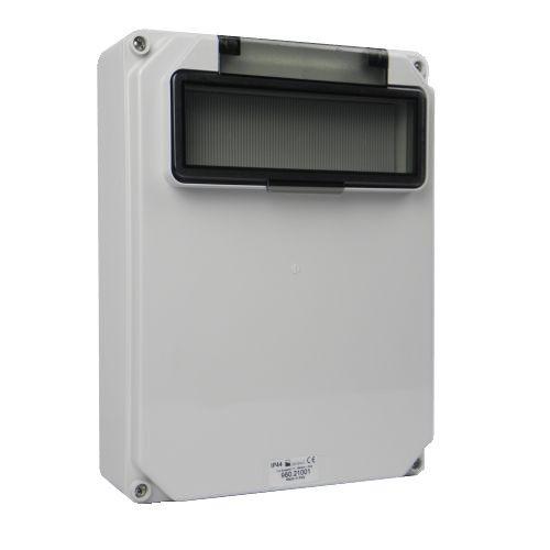 Aansluitkast leeg 10mod flap zonder wcd-aansluitingen IP44