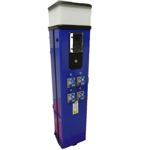 Classic MIDI 1000MM stroomzuil 4 WCD's achter muntproever incl. aardlekautomaten
