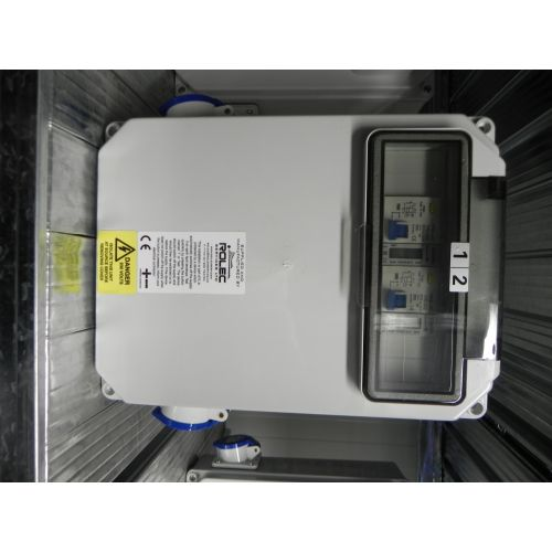 Aansluitkast 2 wcd + 2 kWh + 2 aardlekautomaten