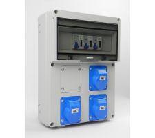 Aansluitkast Front 3x wcd cee 16A/ 3x kWh meter kit