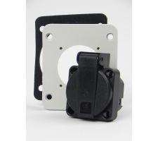Schuko wcd met adapterplaat 86x75 voor schuko