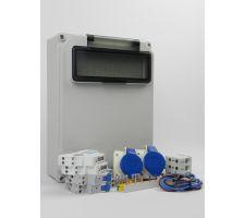 Aansluitkast Zijkant 2x wcd cee 16A/ 2x kWh meter Kit