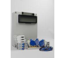 Aansluitkast Zijkant 3x wcd cee 16A/ 3x kWh meter Kit