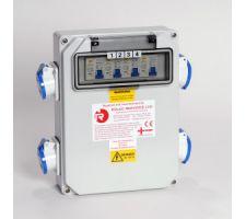 Aansluitkast 4 WCD met kWh meter
